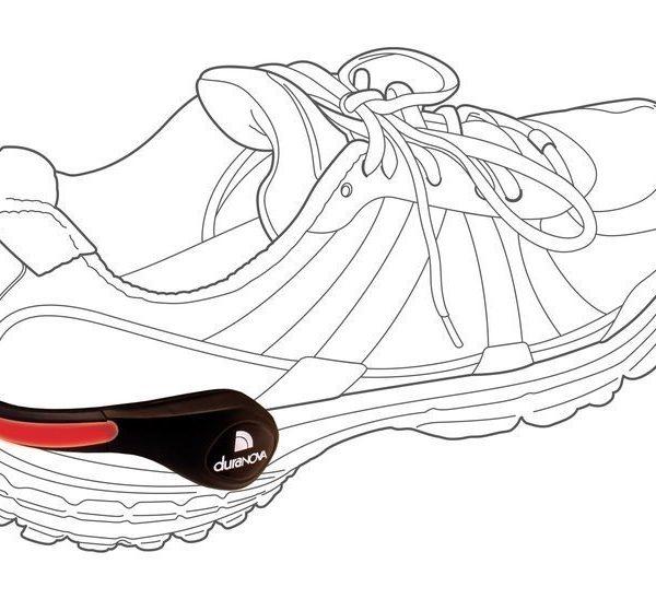 rouge chaussure éclairage Sécurité Lumière pour Chaussures DuraNOVA DEL schuhclip rouge